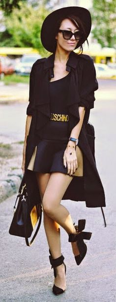 Daily New Fashion : Black is such a happy color!