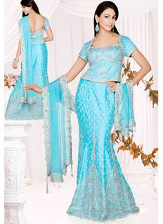 Turquoise Lengha