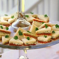 These striped ribbon sandwiches are the perfect finger food for a holiday party, wedding shower or any get-together. Make them ahead and cover sandwiches with a slightly damp paper towel and plastic wrap, and place in an airtight container.
