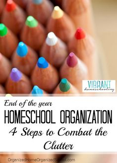 """Want to declutter your schoolroom before jumping into the new year? Here are some great tips: """"End of the Year Homeschool Organization: 4 Steps to Combat the Clutter"""" Homeschool Supplies, Homeschool Curriculum, Learning Styles, Kids Learning, Home Schooling, Christian Living, Education, School Organization, Kids Decor"""