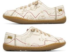 World map shoes by Camper Tws 80384-001 Shoe Kids. Official Online Store // claradeparis.com ♥