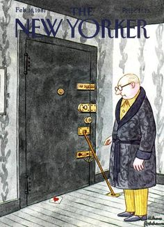 Feb 1981 - Valentine's Day (okay, week) issue of The New Yorker, cover by Charles Addams The New Yorker, New Yorker Covers, Capas New Yorker, Graphic Design Illustration, Illustration Art, Magazine Illustration, John Kenn, Charles Addams, Satirical Illustrations