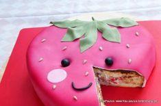 Erdbeer-Torte Rezept Anleitung Strawberry Cake Tutorial Kawaii