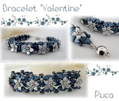 "Schéma ...Bracelet ""Valentine"" von Les perles de Puca auf DaWanda.com"