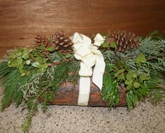 Handmade Yule Log, we made at our annual day after Thanksgiving Craft Day!