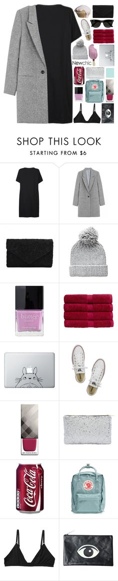 """""""frosting / newchic style❁"""" by pheachy ❤ liked on Polyvore featuring Pieces, Butter London, Christy, Humör, Converse, Burberry, Fjällräven, Monki, Motel and Ray-Ban"""