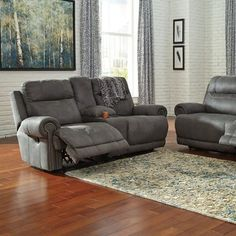 Red Barrel Studio Culver 2 Seat Reclining Sofa Type: Manual, Upholstery: Gray