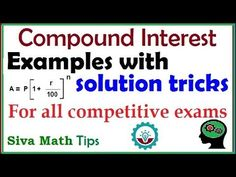 Compound interest examples with solution tricks|Examples on compound int...