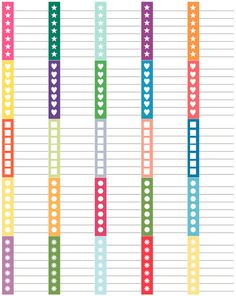 Decorate your planner with functional, colorful checklists!    This set of 25 checklist stickers 1.9 x 1.5 and fit perfectly in Erin Condren