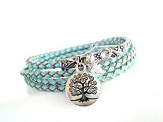 Tree of Life Leather Wrap Bracelet Braided by BohemianEarthDesigns, $38.95