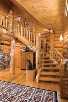 Curta seu estilo Empório das Gravatas em um lugar aconchegante ~ www.emporiodasgravatas.com.br ... Log home staircase