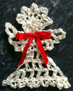 Raffia is a fiber from the giant leaves of a palm tree found in Madagascar. The raffia used in these ornaments is Rayon. Raffia Ribbon, in shiny pearlized c. Crochet Angel Pattern, Holiday Crochet Patterns, Crochet Earrings Pattern, Crochet Angels, Crochet World, Knit Or Crochet, Crochet Crafts, Crochet Projects, Free Crochet
