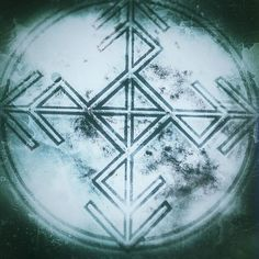 """""""Spegilmynd"""" - Mirrors the negative impulses sent against yourself, and reflects them to the sender. The sigil will work advantageous on a amulet , deposited in a black bowl with water on a black mirror, or in a bucket of water, and then put by your bed. #sigils #pagan #paganism #witchcraft #asatru #magick #seidr #sigil"""