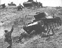 Tank attack: tanks of the japanese army 11th tank regiment led by colonel Matsuo Ikeda attacking soviets troops during the battle of Shumshu Island, the japanese lost 11 of the 27 tanks involved in the attack including colonel Matsuo Ikeda´s tank and the soviet lost 110 soldiers, (august 1945) -Pin it by GUSTAVO BUESO-JACQUIER
