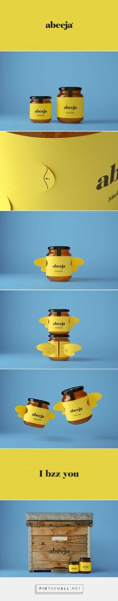 Sky is the limit! Abeeja honey packaging concept by Andrés Guerrero – www.packa… Sponsored Sponsored Sky is the limit! Abeeja honey packaging concept by Andrés Guerrero – www. Honey Packaging, Cool Packaging, Bottle Packaging, Print Packaging, Cosmetic Packaging, Product Packaging, Web Design, Label Design, Package Design