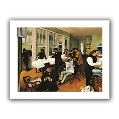ArtWall 'The Cotton Office, New Orleans' by Edgar Degas Canvas Poster