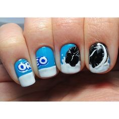 OREO NAILART ❤ liked on Polyvore featuring beauty products, nail care and nails