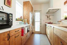 【アイジースタイルハウス】キッチン。インテリアに合わせた木のキッチンも素敵