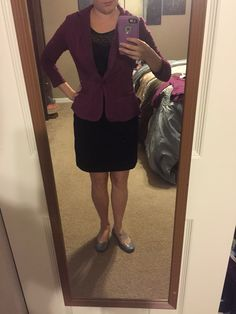 4th Stitch Fix box. Market & Spruce Kristah Ruffle Knit Blazer. September 2015. I bought online but received in my fix in a smaller size. Absolutely love the color and ruffle back!!! Perfect! (Wearing the Kensie dress from this fix too) https://www.stitchfix.com/referral/5306545