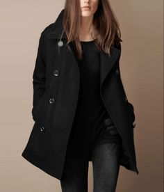 Handsome Double Breasted Trench Coat Two Colors