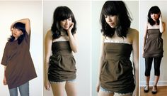Recycled big old t-shirts into super cute clothes #fashion #tshirt