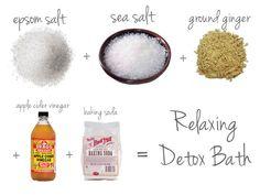relaxing detox bath