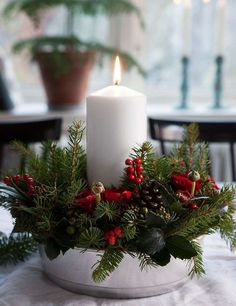 Tutorial for advent Christmas wreath/candleholder