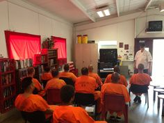 Safe Food Handling Culinary Class where inmates learn how to cook while assigned at the various fire camps at PDC-East Inmate Fire Camp Culinary Classes, Food Handling, Learn To Cook, Camps, Safe Food, Investing, Fire, Education, Learning