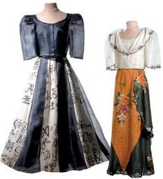 Filipino National Dress for Women WW - Loshari Ref Modern Filipiniana Dress, Filipiniana Wedding, Philippines Outfit, Philippines Fashion, Barong Tagalog For Women, Filipino Fashion, Philippine Women, Traditional Dresses, Fashion Outfits