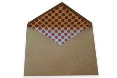 kraft paper envelope with insert