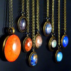 The Maria Planet Necklaces Science Astronomy by ShopGibberish, $129.99
