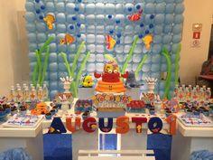 FESTA FUNDO DO MAR Gabriel, Party, Decor, Custom Crates, Mauritius, Decorating, Archangel Gabriel, Fiesta Party, Inredning