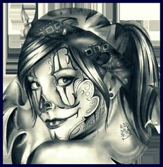 Clown girl drawing