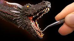 #dragon #gameofthrones #drogon #sculpting #sculpture #art #clay #craft #polymerclay