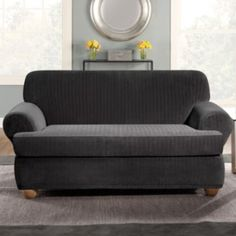 sure fit cotton duck tcushion loveseat cover loveseat covers and products