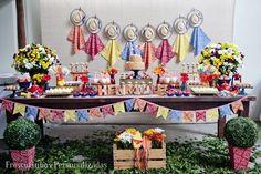 Festinha de aniversario, decoração festa junina maravilhosa de Marcela Castro da frescurinhas personalizadas.