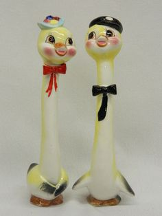 Vintage Japan Napco Tall Boys Girl Chics Salt & Pepper Shakers Stretch Long Neck | eBay