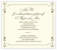 Wedding Rehearsal Dinner Invitations Designed by Nicole D'Amico http://www.coroflot.com/nbdamico