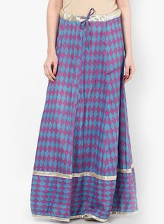 The Diamonds And Checks One-Diamond Ghaghara Skirt - Indian Style Skirts for Woman of All Ages