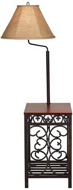 Marville Mission Style Swing Arm Floor Lamp With End Table Travata