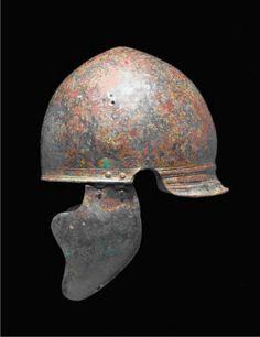 Italic or Roman Montefortino helmet, 4th century BC.