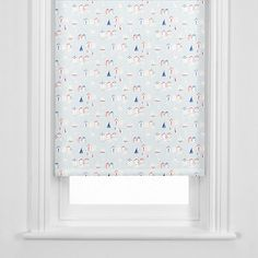 Dunhelm Mill Beach Huts Cordless Blackout Roller Blinds