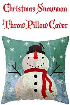 Add some Christmas decor to your room for just two bucks with this Christmas Snowman Throw Pillow Cover!