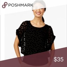 💃🏾Dot-Printed Sheer Dolman Blouse Joseph A Dolman-sleeve Dot-print Top Solid Black.  Features Size Type: Regular Lined: Yes Sleeve Style: Batwing, Dolman Style: Blouse. Purchase by 4:00 pm Central Time for same shipping. Tops Blouses