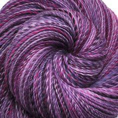 Hand spun yarn  JOY OF PURPLE  Handpainted by EdgewoodGardenStudio, $38.00