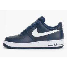 new style d47a0 43ebf NIKE AIR FORCE 1 Men SHOES MIDNIGHT NAVY 488298-436 US7-11  Lazada