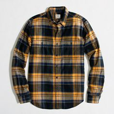 J.Crew Factory Factory flannel workshirt in plaid on shopstyle.com