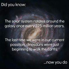 Solar system orbits galaxy