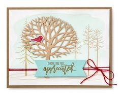 Stampin' Up! Thoughtful Branches winter card #stampinup -- ONLY available in August 2016 www.juliedavison.com