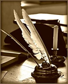 Ink:  To write with ink and a quill...